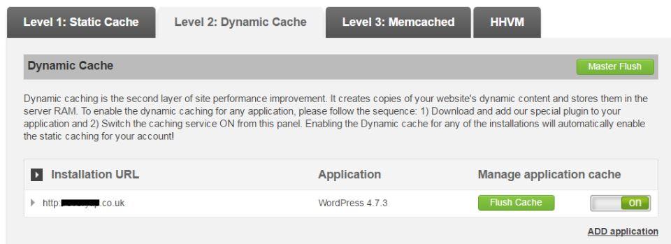 Dynamic Caching - faster wordpress speed